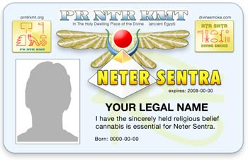 PrNtrKmt Cannabis ID Card